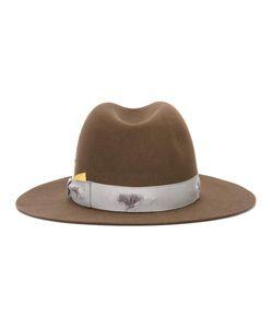 Borsalino | Strap Detail Fedora Hat Mens Size 58 Beaver Fur