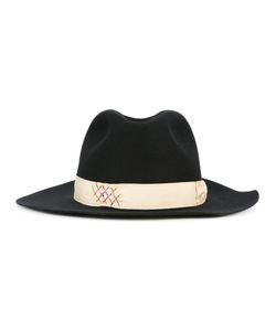Borsalino | Strap Detail Fedora Hat Mens Size 60 Rabbit Fur
