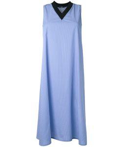 Assin | Striped Sleeveless Dress Womens Size Large Cotton