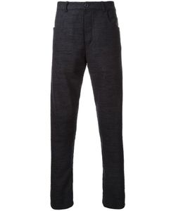 Assin | Five Pocket Tapered Trousers Mens Size Large Silk/Linen/Flax