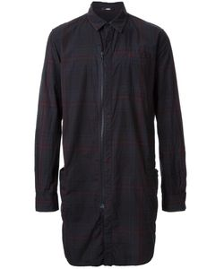 Assin | Zipped Long Plaid Shirt Mens Size Xl Cotton