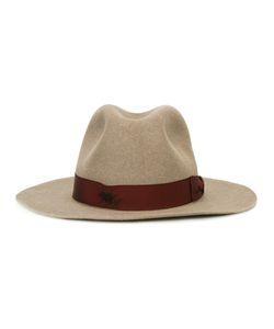 Borsalino | Strap Detail Fedora Hat Mens Size 59 Beaver Fur