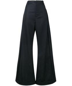 Jacquemus   High Waisted Wide-Leg Trousers Womens Size 34 Virgin Wool