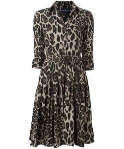 Samantha Sung | Animal Print Shirt Dress Womens Size Xs Wool/Silk