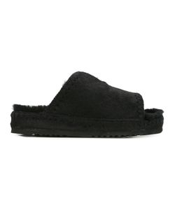Mou | Furki Slider Sandals Womens Size 36 Calf Hair/Sheep Skin/Shearling/Rubber