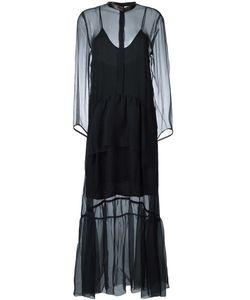 Petar Petrov | Sheer Polka Dot Dress Womens Size 36 Silk/Cupro/Sheep