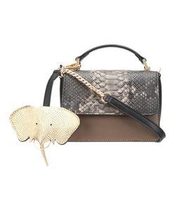 Christian Siriano | Snakeskin Detail Crossbody Bag Womens Pvc
