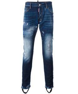 DSquared² | Bleached Distressed Effect Jeans Mens Size 50 Cotton/Spandex/Elastane