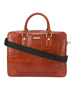 Baldinini | Crocodile Skin Effect Briefcase Leather