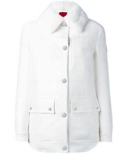 Moncler Gamme Rouge   Fur Collar Jacket Womens Size 0 Polyester/Polyamide/Silk/Rabbit