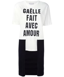 Gaelle Bonheur   Contrast High Low Hem T-Shirt Womens Size 1