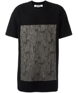 Individual Sentiments   Square Print T-Shirt Mens Size Small Cotton/Wool