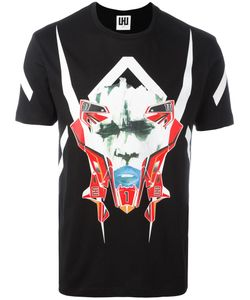 Les Hommes Urban   Mask Print T-Shirt Mens Size Xxl Cotton