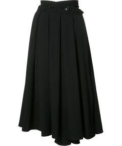 Y's   Pleats Wrap Skirt Womens Size 2 Wool