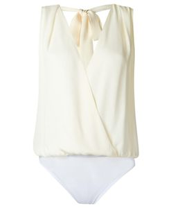 Andrea Marques | Wrap Bodysuit Womens Size 40 Silk
