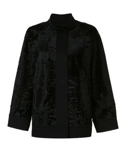 J. Mendel   Caban Jacket Womens Size 2 Silk/Cashmere/Lamb Fur
