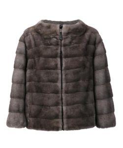 J. Mendel   Reversible Zipped Jacket Womens Size 8 Mink Fur/Nylon