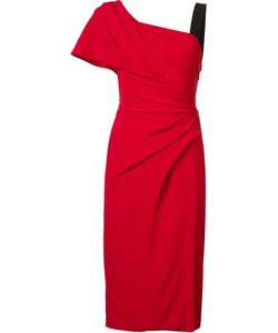 J. Mendel   One Shoulder Draped Dress Womens Size 4 Silk/Silk