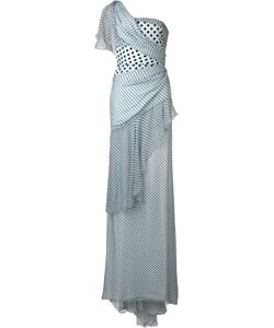 J. Mendel   Dots Prints Layered Dress Womens Size 2 Silk
