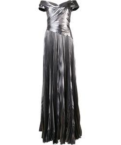 J. Mendel   Matte Grey Pleated Dress Womens Size 10 Silk