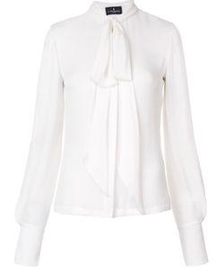 J. Mendel   Split Sleeve Blouse Womens Size 4 Silk