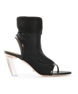 Viktor & Rolf | Neoprene Booties Womens Size 39 Cotton/Polyamide/Spandex/Elastane/Leather