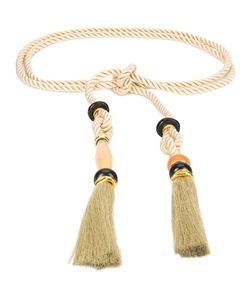 Lizzie Fortunato Jewels   Tribal Detail Belt Womens Silk