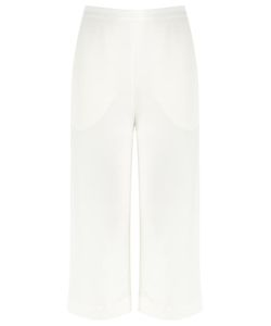 Andrea Marques | High-Waisted Trousers Womens Size 36 Viscose/Linen/Flax/Polyester