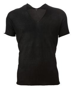 Label Under Construction | Knitted Sheer T-Shirt Mens Size 52 Cotton