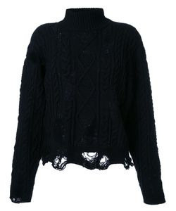 Mihara Yasuhiro   Miharayasuhiro Distressed Cable Knit Jumper Womens Size 40 Acrylic/Wool