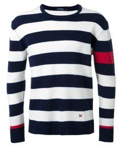 Guild Prime | Round Neck Striped Jumper Mens Size 1 Lambs Wool
