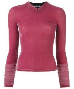 Y / Project   Extreme Velvet Top Womens Size 34 Polyester/Spandex/Elastane