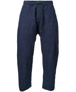 Kazuyuki Kumagai | Cropped Drawstring Trousers Mens Size 2 Cotton/Linen/Flax/Wool/Hemp