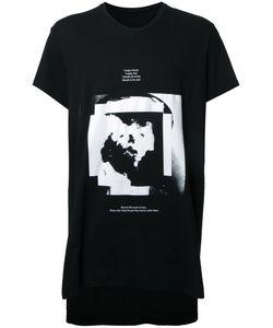 Julius | Text Print T-Shirt Mens Size 4 Cotton/Modal