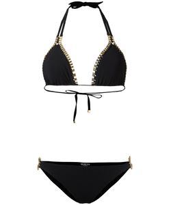 Moeva | Chain Detail Bikini Womens Size Small Polyamide/Spandex/Elastane/Metal