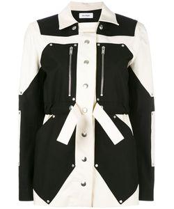 Courrèges | Colour Block Parka Jacket Womens Size 38 Cotton/Spandex/Elastane