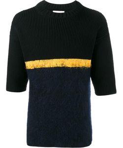 Helen Lawrence | Contrast Stripe Jumper Mens Size Large Lambs Wool/Mohair/Wool/Polyamide