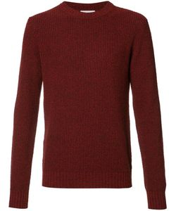 Orley | Ribbed Trim Jumper Mens Size Large Silk/Mulberry Silk