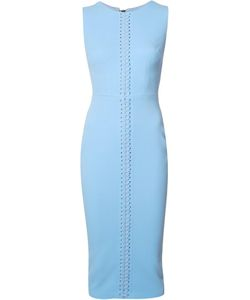 Alex Perry | Lace-Up Detailing Fitted Dress Womens Size 6 Triacetate/Polyester