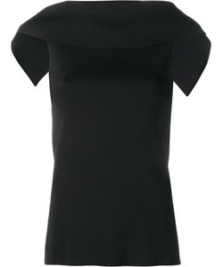 Osman | Draped Sleeveless Top Womens Size Xs Rayon/Nylon