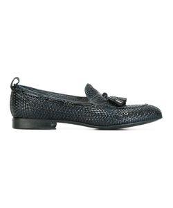 Silvano Sassetti   Interlaced Leather Mocassins Mens Size 6.5 Leather/Rubber