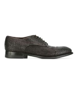 Silvano Sassetti   Interlaced Leather Derbies Mens Size 8.5 Leather/Rubber