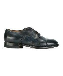 Silvano Sassetti   Perforated Detailing Derbies Mens Size 8 Leather/Rubber