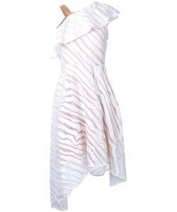 GINGER & SMART | Lunar One Shoulder Dress Womens Size 12 Silk/Polyester Ginger