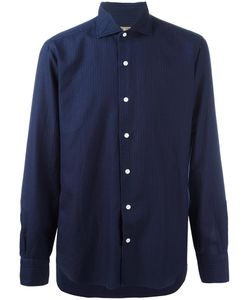 Barba | Tonal Stripe Shirt Mens Size 43 Cotton