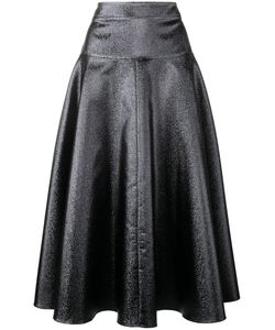 Osman | Flared Midi Skirt Womens Size 12 Polyester/Silk/Viscose