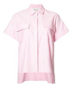 Novis | Tall Spread Collar Blouse Womens Size 6 Cotton