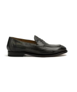 Silvano Sassetti   Classic Loafers Mens Size 6 Calf Leather/Leather/Rubber