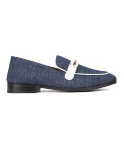 Newbark | Denim Slippers Womens Size 7 Lamb Skin/Leather/Cotton