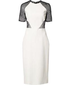 David Koma | Interlaced Sheer Back Dress Womens Size 12 Polyester/Acetate/Viscose/Spandex/Elastane